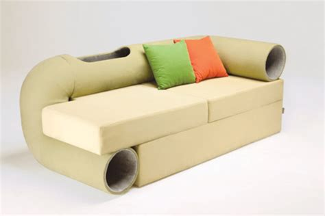 cat tunnel sofa modern cat tree furniture images