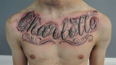 tattoo ideas names on chest 38 name tattoos on chest