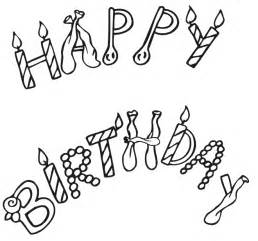 happy birthday coloring page happy birthday coloring pages kentscraft