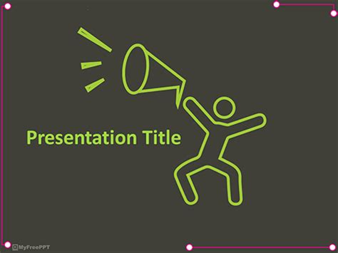 Free Social Powerpoint Templates Themes Ppt Powerpoint Announcement Templates
