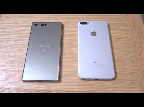 Sony Xperia XZ Premium vs iPhone 7 Plus   Speed Test