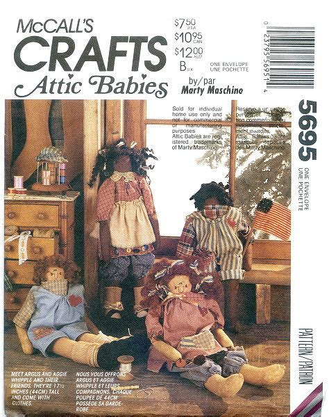 rag doll in the attic attic babies rag doll and clothes pattern by by dixiemar