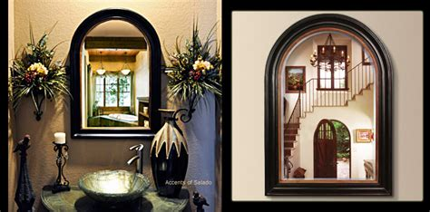 tuscan old world style mirrors black arch mirror