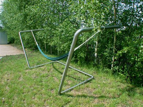 gestell hängematte selber bauen h 228 ngematten gestell aus edelstahl