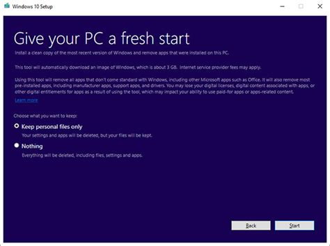 reset tool windows 10 microsoft windows 10 refresh tool clears out bloatware and
