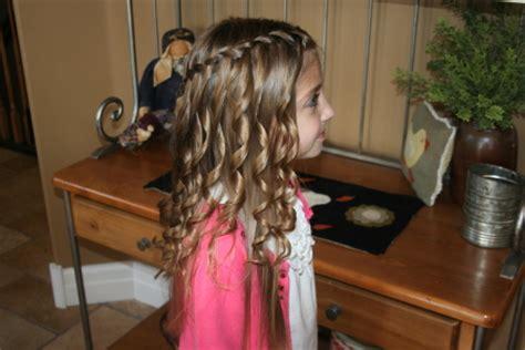 Spiral Curls Waterfall Braid Cute Girls Hairstyles | waterfall braid with spiral curls cute hairstyles cute
