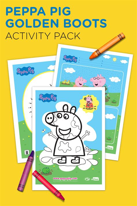 stay warm with a printable peppa pig winter coloring pack peppa pig golden boots activity pack nickelodeon parents