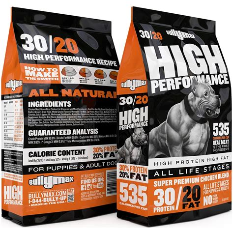 high performance food bully max 30 20 high performance food for working breeds 15 lbs bag ebay