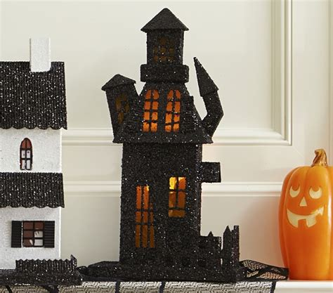 light up haunted house decoration light up haunted house pottery barn kids