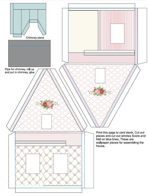 printable houses to fold 17 best images about glitter houses on pinterest