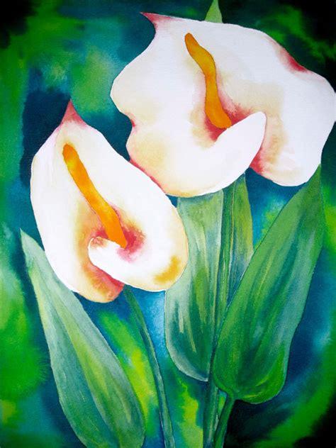 easy watercolor paintings flowers easy watercolor flowers