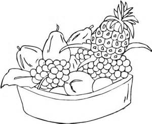 Galerry fruit basket coloring page