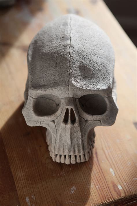 geometric clay skull  behance