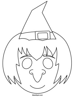 free printable witch mask template printable witch mask