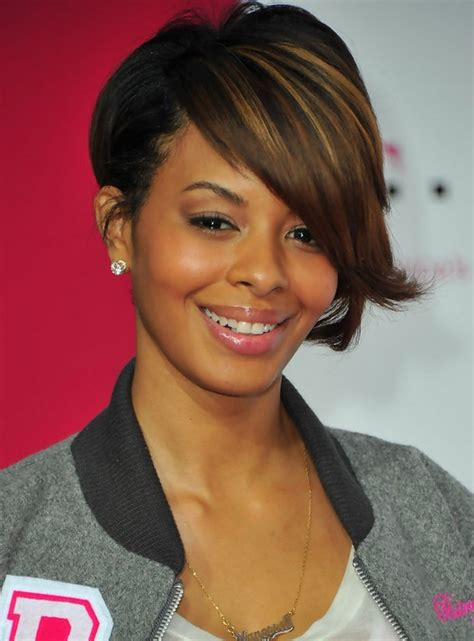 angled bob hair style fors black women chic inverted bob haircut with long bangs for black women