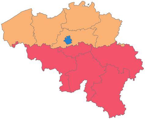 map of belgium regions provinces of belgium