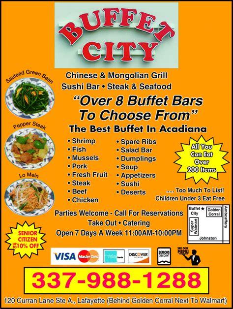 Buffet City Lafayette La 70506 Yellowbook Buffet City Menu