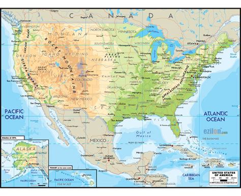 physiographic map of united states physical map of the united states pictures to pin on