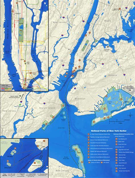 map new york harbor map of new york harbor new york map