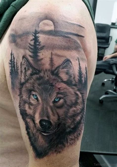 tattoos on head wolf images designs
