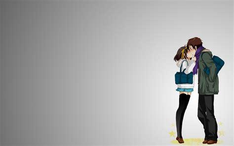 couple hd wallpaper for laptop anime couple kiss missing you love art hd wallpaper