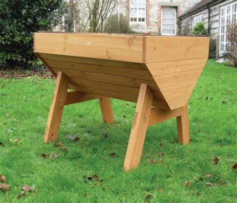 Cheap Raised Planters by Cheap Buy Veg Trough Medium Wooden Raised Vegetable Bed