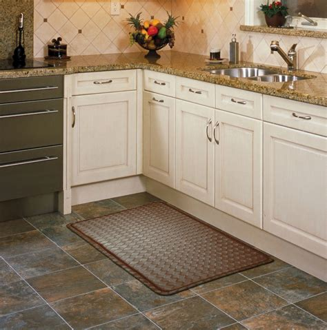Brown Kitchen Rugs Chef Mats Brown Basketweave Home Home Decor Rugs Kitchen Rugs