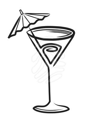 mixed drink clipart black and white cocktail black clipart
