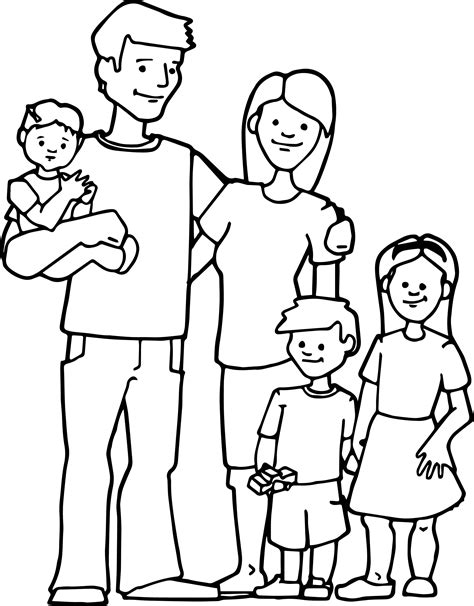 coloring pages of joint family family kids coloring page jpg 2129 215 2722 preschool