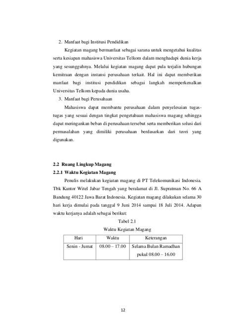 cara membuat daftar isi untuk laporan pkl contoh laporan magang untuk mahasiswa contoh cover laporan