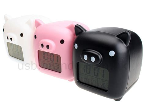 Lovely Piggy Usb Clock Relieves Stress usb lovely piggy moodicare clock