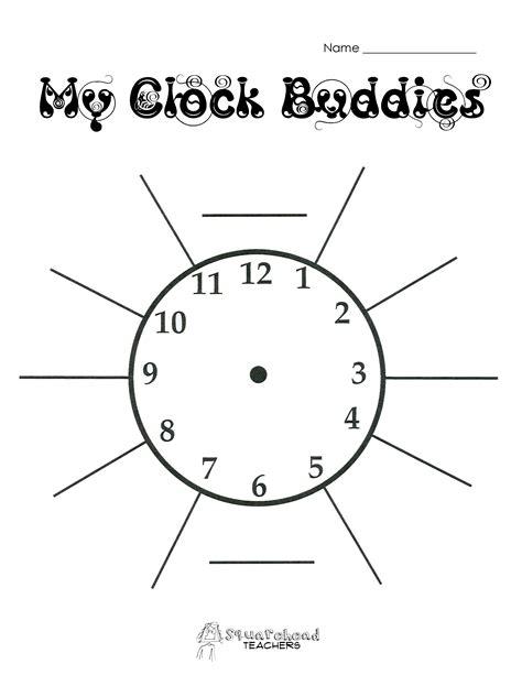 Printable Clock Partners | free clock buddies template printable cliparts co