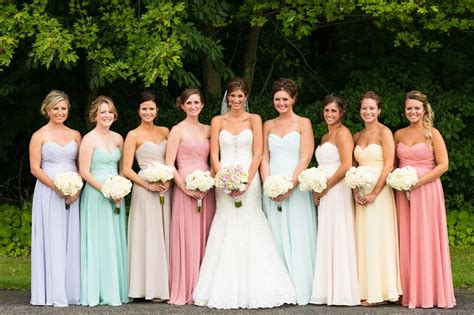 pastel color bridesmaid dresses multi colored pastel bridesmaid dresses