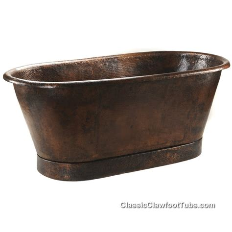 72 Quot Hammered Copper Double Ended Bathtub Classic