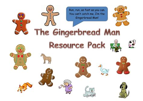 gingerbread man printable pack the gingerbread man resource pack by