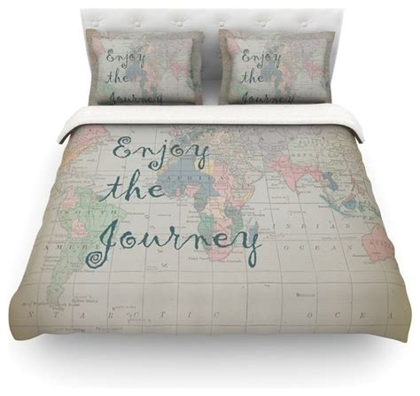 world map comforter catherine holcombe quot journey quot world map duvet cover