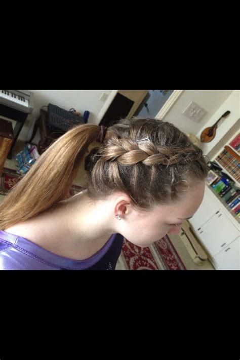 how to wear short hair for gymnastic meet my hair for gymnastics meet ella s board pinterest