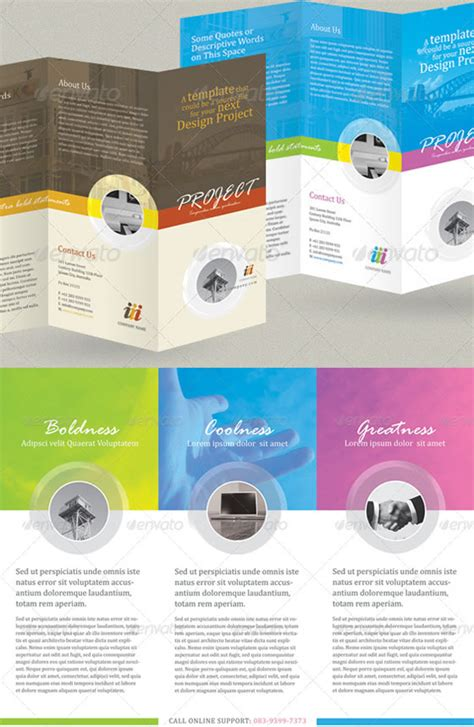 tri fold brochure template free indesign creative tri fold brochure design templates