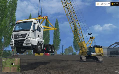 hoisting tool  liebherr hs   ls  farming simulator   mod