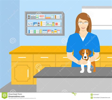 Medical Clinic Floor Plans Woman Veterinarian Holding A Dog In Veterinary Office