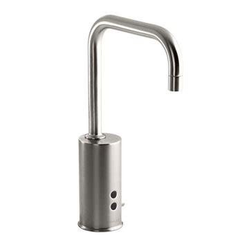 Spigot Vs Faucet by Kohler K 13472 Vs Gooseneck Touchless Deck Mount Faucet With Temperature Mixer Vibrant