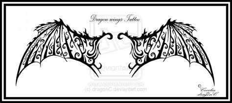 dragon wing tattoo tattoos wings
