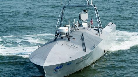 robot boat from the rick stephens departments united states navy
