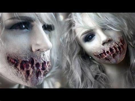zombie makeup tutorial no latex speak no evil zombie mouth sfx makeup tutorial youtube