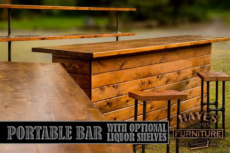 Cedar Bar Top by Cedar Portable Outdoor Bar New Dimensions