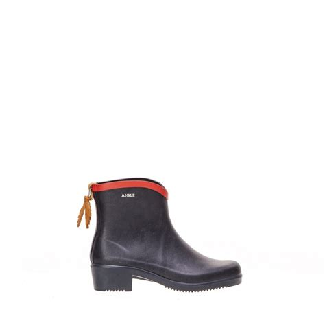 aigle miss juliette bot ankle boot in navy collen clare