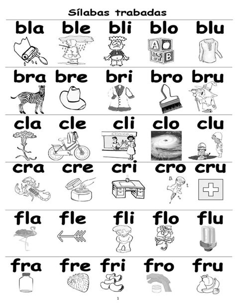 palabras compuestas para ninos en espanol palabras en silabas para imprimir pictures to pin on