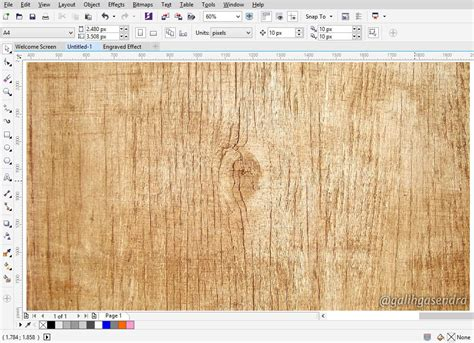 Corel Wood Pattern | coreldraw tutorial carved engraved text effect galih