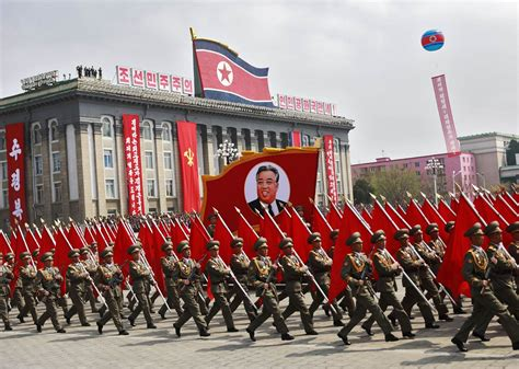 north korea north korea parades new prototype long range missiles amid