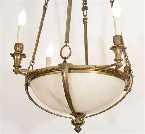 An Antique French Bronze And Alabaster Light Fixture At Antique Bronze Light Fixtures
